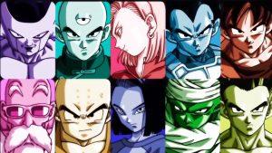 Goku y el equipo del Universo 7