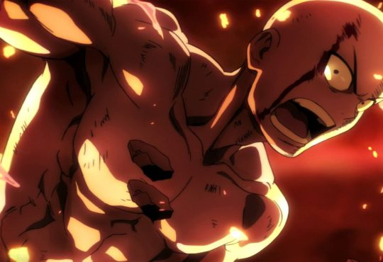 One Punch Man Saitama sin Camisa