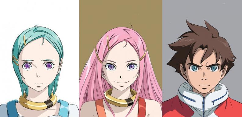 Personajes principales de Eureka Seven