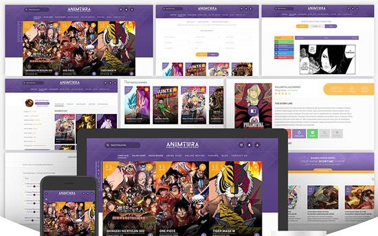 plantillas para web sobre anime