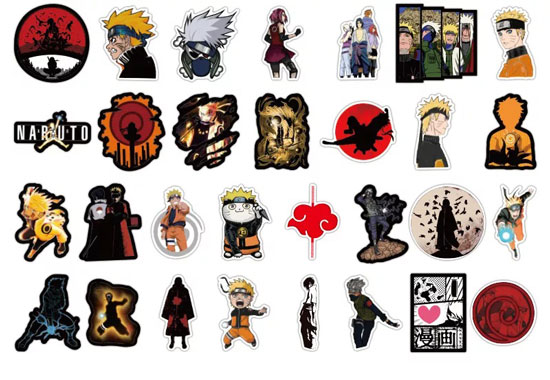 pegatinas de anime manga